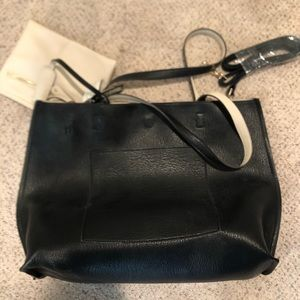 Brand new tote with tags, reversable